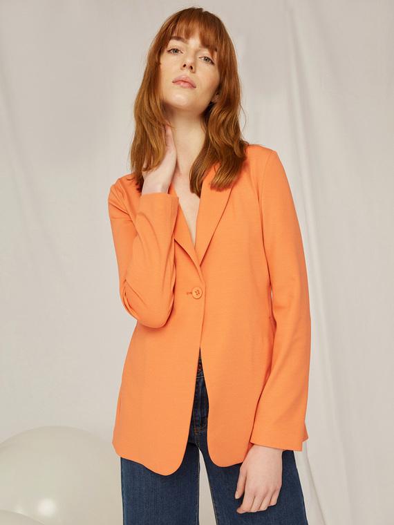 Caractere Cappotti e giacche > Giacche e blazer Arancione - Caractère Giacca blazer in punto stoffa Donna Arancione