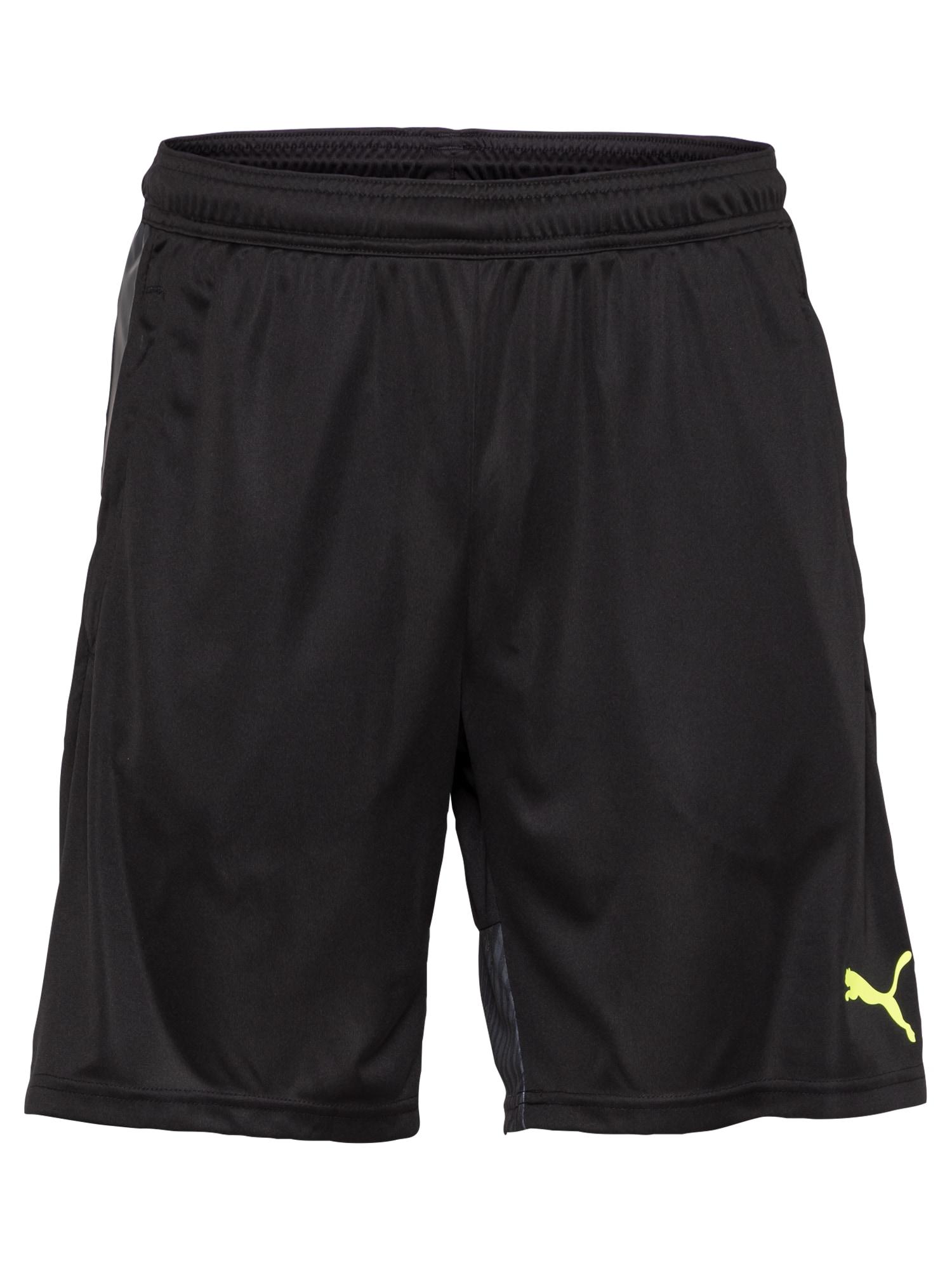 PUMA Pantaloni sportivi  nero / giallo neon male shop the look
