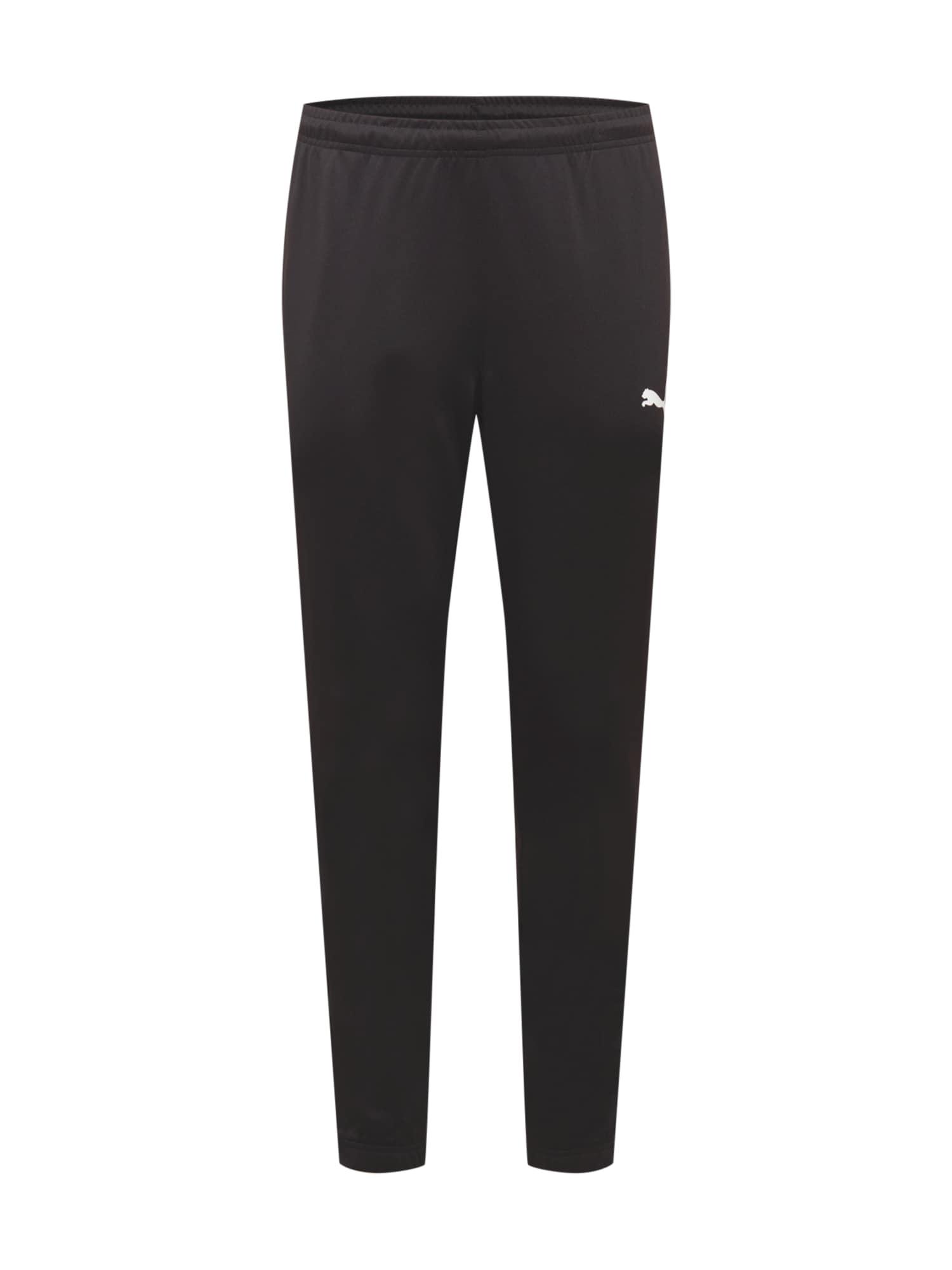 PUMA Pantaloni sportivi 'teamRISE'  nero / bianco male shop the look