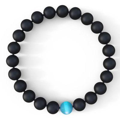 Mens Water Drop Bracelet – Semi-Precious Natural Stones (8mm) – Handmade Genuine Quality Onyx Bracelets For Women