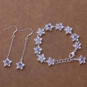 AS128 Hot 925 sterling silver Jewelry Sets Earring 181 + Bracelet 048 /afgaiwna altajdaa
