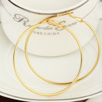 LEMOER New Fashion 100mm Large Size Exaggerated Gold Silver Color Alloy Big Hoop Earrings For Women 2017 Wholesale Jewelry