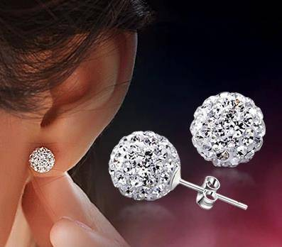 Lose money promotion wholesale 30% percent silver plated zircon crystal ladies`wedding earrings