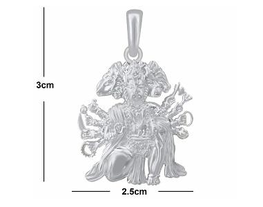 hanuman chalisa hanuman locket sterling silver