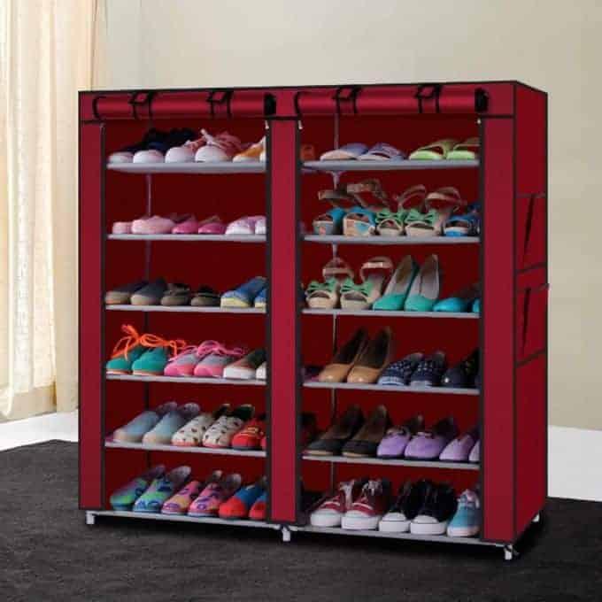 12 Tier Shoe Rack 2712 – Wine Red