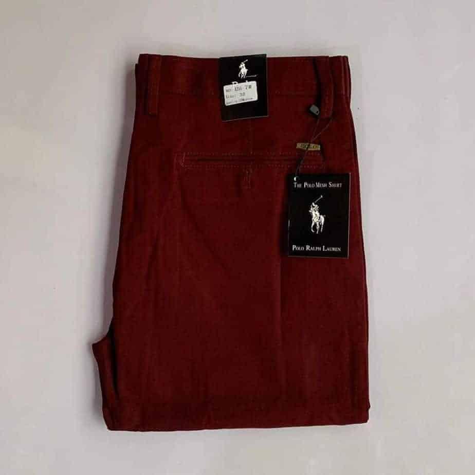Wine Polo Khaki Trouser
