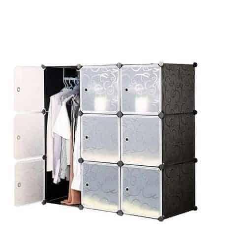 9 Cubes Plastic Wardrobe (Colour May Vary)