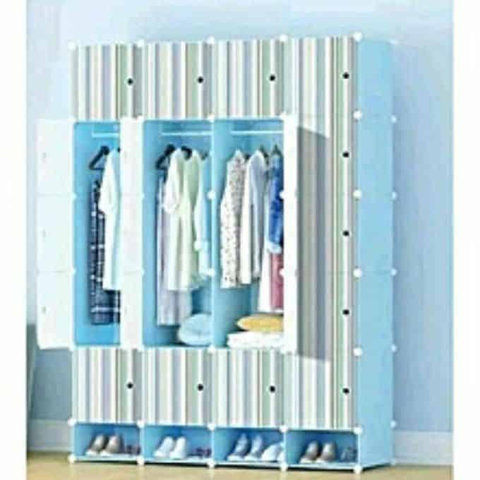 20 Cube Wardrobe With Shoe Rack -Blue