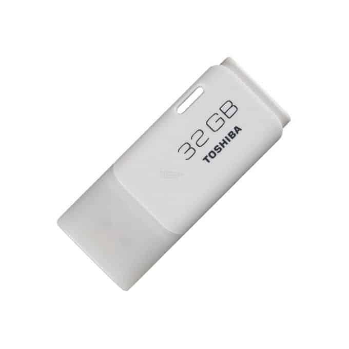 Toshiba 32GB Plastic USB Pen Drive – White