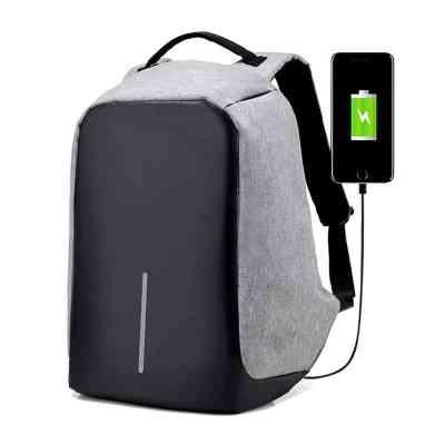 Anti Theft Waterproof Backpack gray