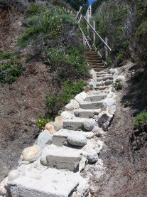 """The """"Stairs"""" down to the beach"""