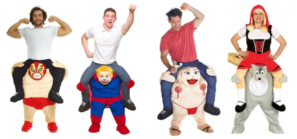 9ba635aec6a2 carry me kostume piggy back kostume rødhætte kostume til voksne bær mig  kostume sjovt kostume til