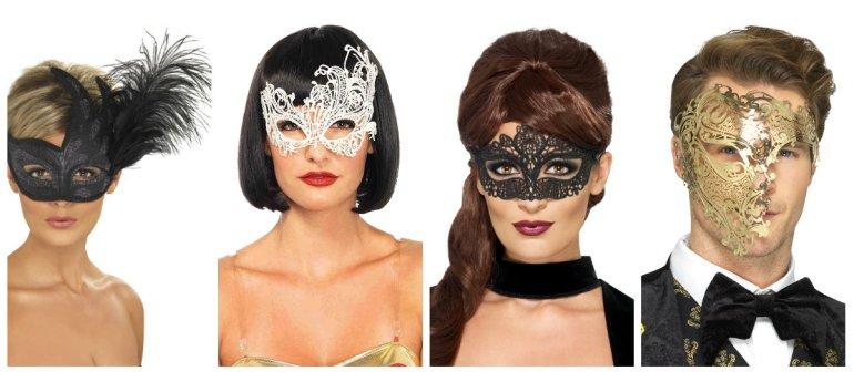 maskebal øjenmaske fastelavnsmaske maske til bal halvmaske