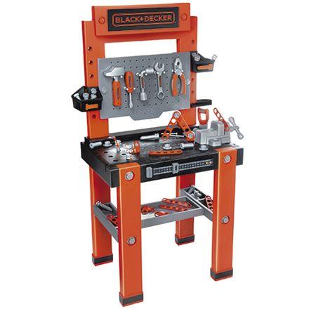 arbejdsbænk til børn børneværksted værktøjsbænk til børn plastik black decker orange redskabsbænk arbejdsbænk gave til 2 årig dreng gave til 3 årig dreng
