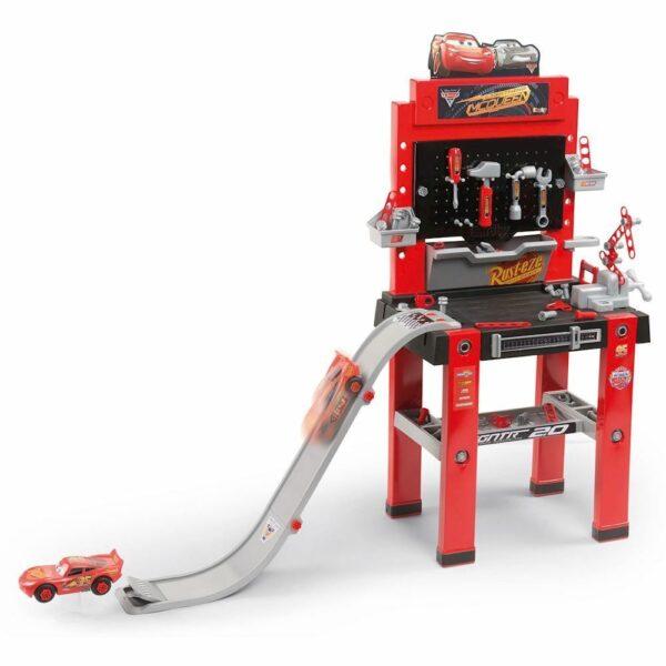 arbejdsbænk til børn børneværksted værktøjsbænk til børn plastik rød biler disney cars redskabsbænk arbejdsbænk gave til 2 årig dreng gave til 3 årig dreng