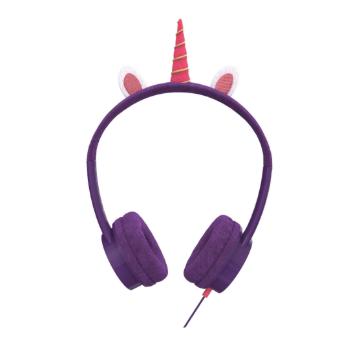 høretelefoner til børn enhjørning headset til børn enhjørning høretelefoner til børn lilla høretelefoner til børn little rockerz hørebøffer unicorm høretelefoner