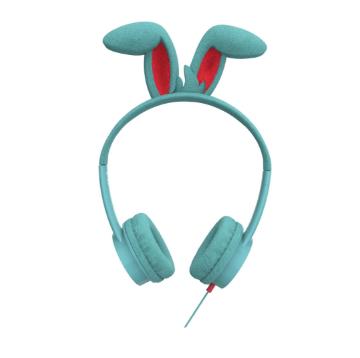 høretelefoner til børn little bunny headset til børn kanin høretelefoner til børn lyseblå høretelefoner til børn little rockerz hørebøffer kaninøre høretelefoner