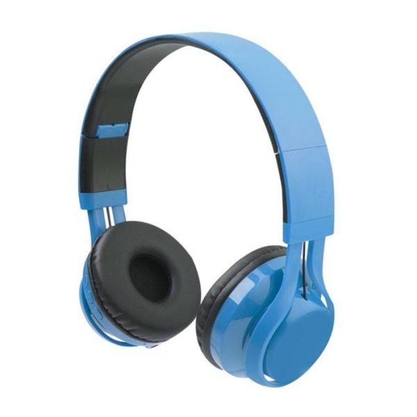 trådløse høretelefoner til børn bluetooth headset til børn lyseblå høretelefoner wireless til børn blå høretelefoner til børn kidsafe trådløs hørebøffer