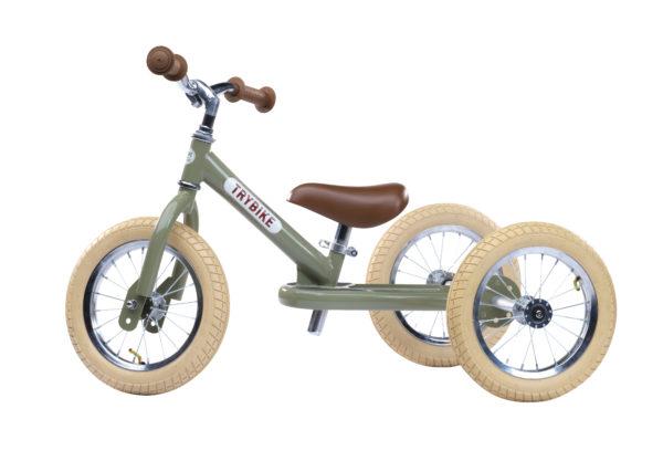 trybike 2i1 gåcykel grøn 3 hjulet 600x417 - Gåcykel - cykel til 1 årig