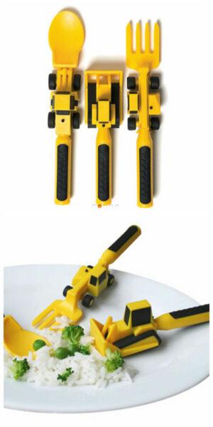 gravko bestik gravemaskine bestik med gravko bestik med entreprenørmaskiner gravko legetøj gravko gave 1 årig