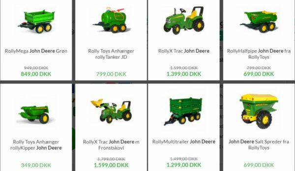 john deere legetraktor john deere pedaltraktor john deere traktor gave til 2 årig grøn traktor gave til 3 årig john deere legetøjsanhænger 600x348 - John Deere køretøj
