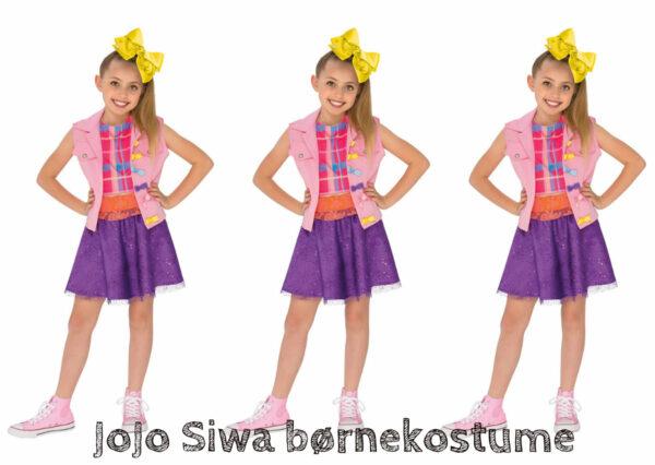 jojo siwa kostume til piger jojo siwa børnekostume jojo siwa fastelavnstæj jojo siwa klæd-ud tøj jojo siwa boomerang tøj