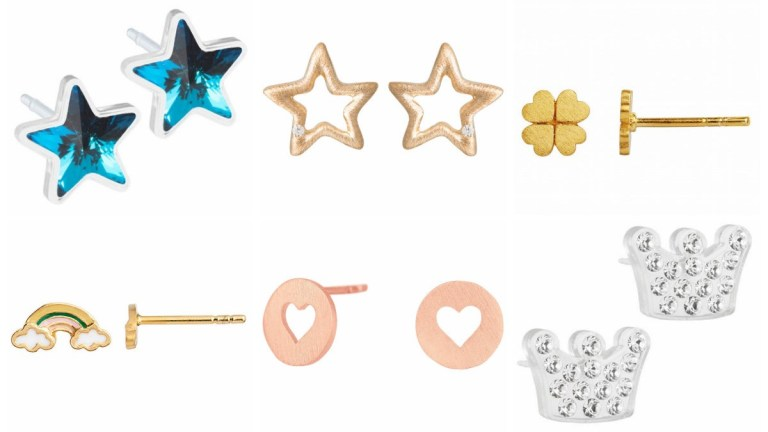 øreringe til børn øreringe til piger øreringe gave til piger øreringe ørestikker til piger øreringe med hjerter øreringe med sten