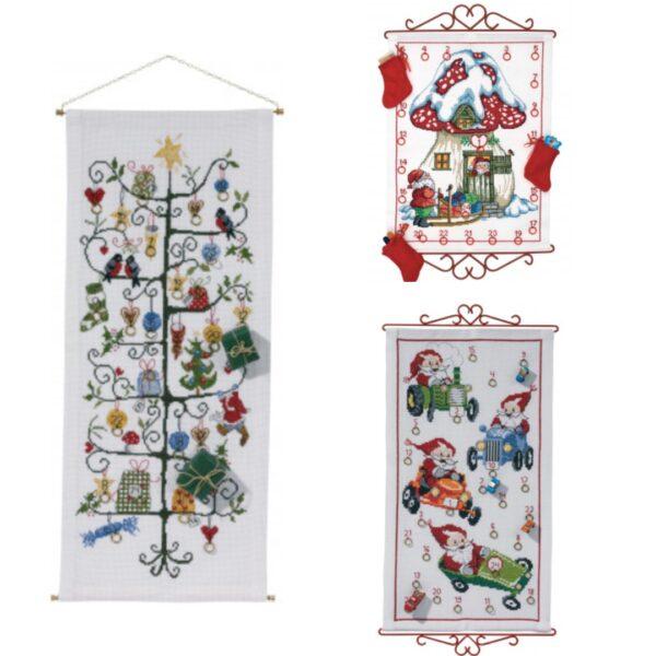 broderet julekalender pakkekalender ophæng broderet 600x600 - Pakkekalender ophæng