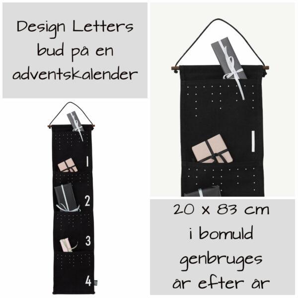 design letters adventskalender ophæng design letters adventspakker ophæng pakkekalender med lommer design letters pakkekalender 4 lommer til pakkekalendergaver 600x600 - Pakkekalender ophæng