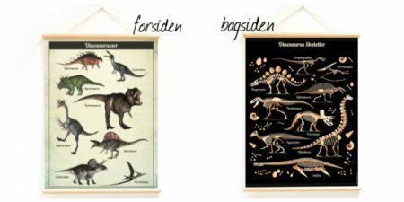 dinosarus plakat til børneværelset dino plakat dinosaurus skelet plakat gave til dino fan