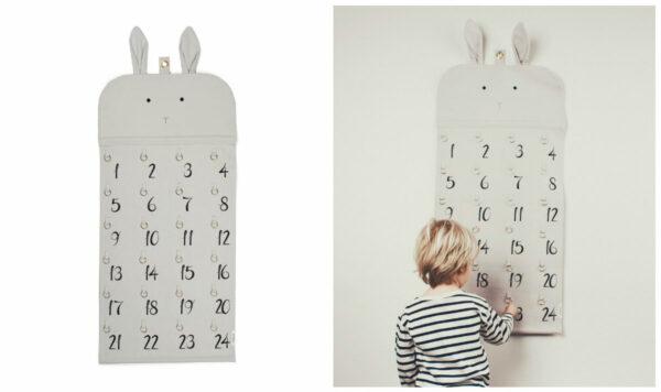 liewood pakkekalender ophæng i stof liewood julekalender i stof ophæng 24 ringe 24 lommer til pakker