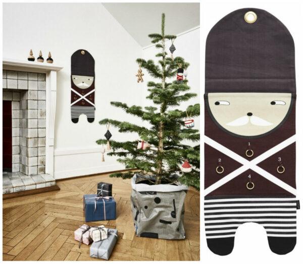 oyoy adventskalender ophæng advent pakkekalender 4 pakker vægophæng til adventspakker jul genbrug juletradition