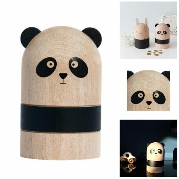 oyoy sparebøsse panda oyoy sparegris panda sparebøsse i træ design sparebøsse barnedåbsgave dreng navngivningsfest gave 600x600 - OYOY til børneværelset
