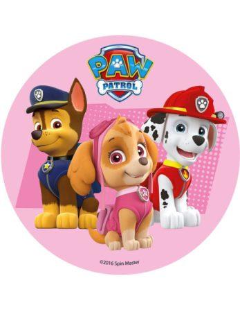 paw patrol kagedekoration paw patrol lagkage nem paw patrol kage børnefødselsdag sukkerprint med paw patrol 3 hunde skye 463x600 - Nem Paw Patrol kage til Paw Patrol fødselsdag