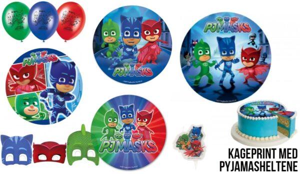 pyjamasheltene fødselsdag pj masks fødselsdag pyamasheltene kageprint sukkerprint PJ masks nem pj masks kage pyjamasheltene kage 600x349 - PJ Masks - Pyjamasheltene fødselsdag