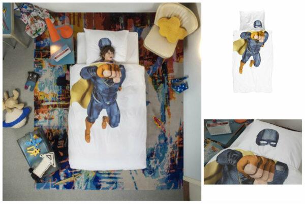 snurk sengetøj snurk superhero snurk superhelt sengetøj til voksendyne snurk superhelte sengetøj til juniordyne indretning børneværelse tegnefilm indretning børneværelse superhelt tema 600x402 - Snurk sengetøj