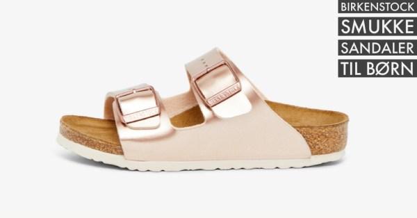guld sandaler pige guld rosaguld sandaler til piger birkenstock guld sandaler tilbud