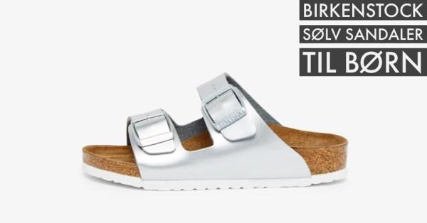 sølv sandaler birkenstock sølv sandal pige