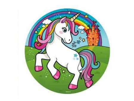 unicorn kage enhjørning kageprint nem enhjørning kage børnefødselsdag med enhjørning tema