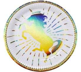 regnbue unicorn tallerkner festartikler engangstallerkener - Unicorn tema fest