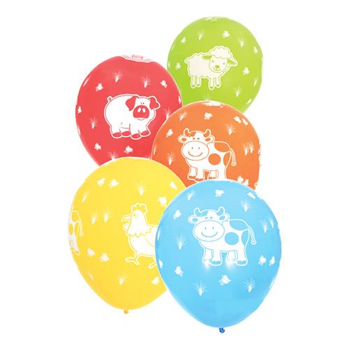 bondegårdsdyr balloner bondegårdstema børnefødselsdag balloner med dyr
