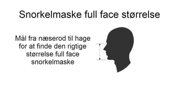 snorkelmaske full face størrelse find den rigtige størrelse full face dykkermaske - Guide: Full face snorkelmaske til børn
