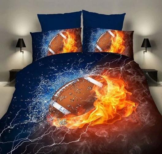 football 8 piece comforter set