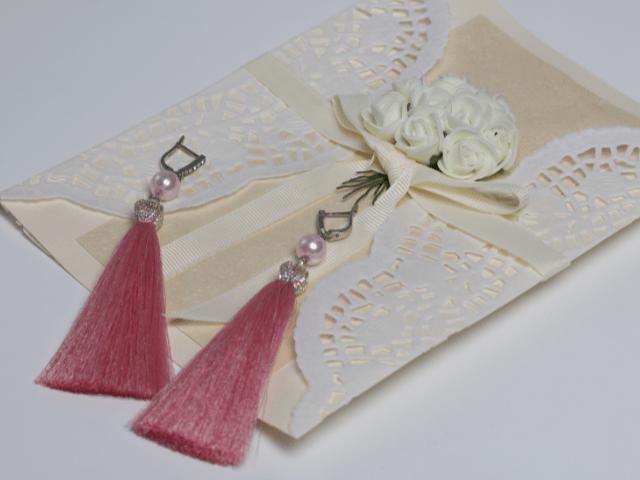 A pair of tassel earrings