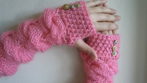 knitted gloves on etsy