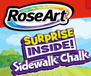 RoseArt Surprise Inside Sidewalk Chalk