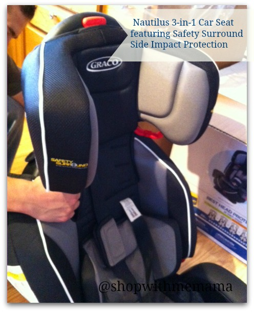 Nautilus 3 In 1 Car Seat Featuring Safety Surround Side Impact Protection