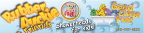 Rubber Duckie & Friends showerheads make bath time play time! (Giveaway & Feature)