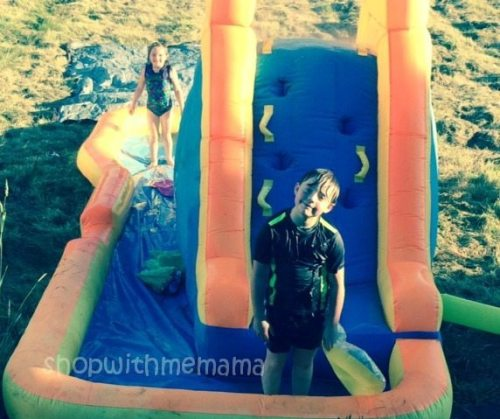 water slide summertime fun