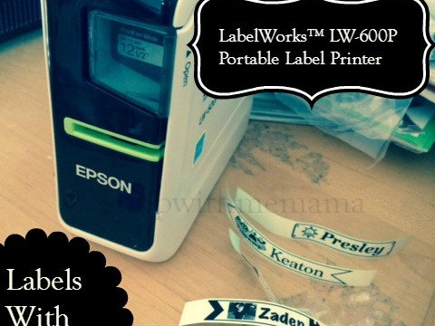 LabelWorks LW-600P Portable Label Printer Review & Giveaway